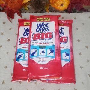 Wet Ones XL Wipes (3) Bundle